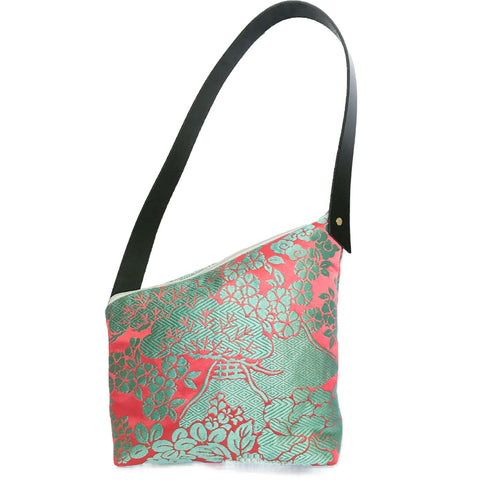 Kimono Silk Shoulder Bag 'Pretty Turquoise & Pink 2'