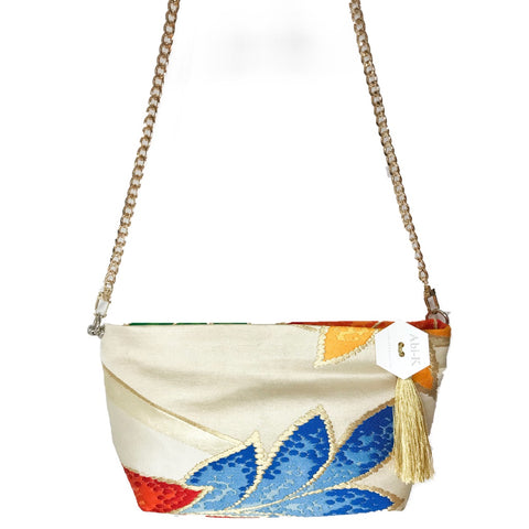 Kimono Cross Body Handbag 'Bright Colour Leaves'