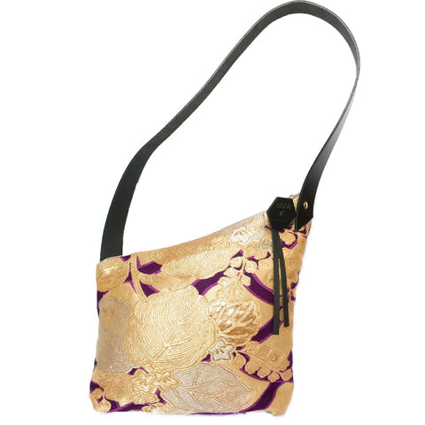 Kimono Silk Shoulder Bag 'Regal Purple & Gold'