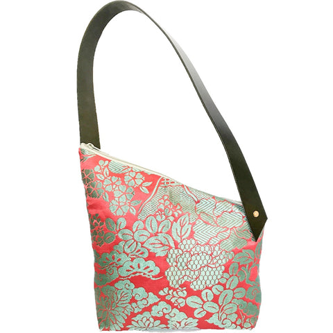 Kimono Silk Shoulder Bag 'Pretty Turquoise & Pink'