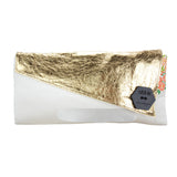 Kimono-Kouture Asymmetric Clutch Bag 'Bridal Gold'