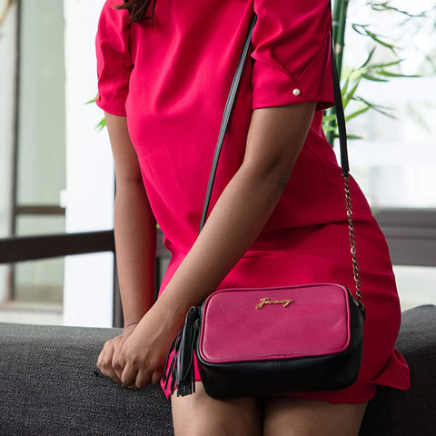 Cuboid Bag Hot Pink