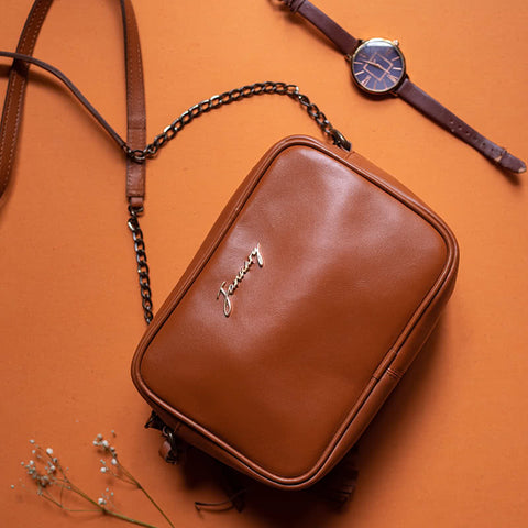 Cuboid Bag Tan