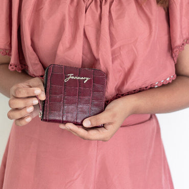 AMIE wallet - Wine croco