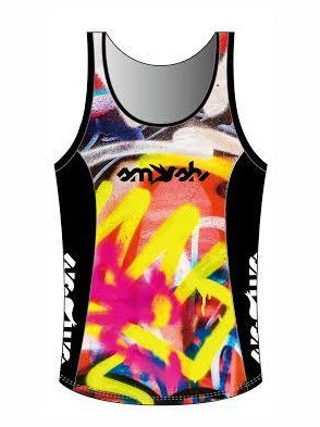 Graffiti Women's Tri Top with Built-in Bra