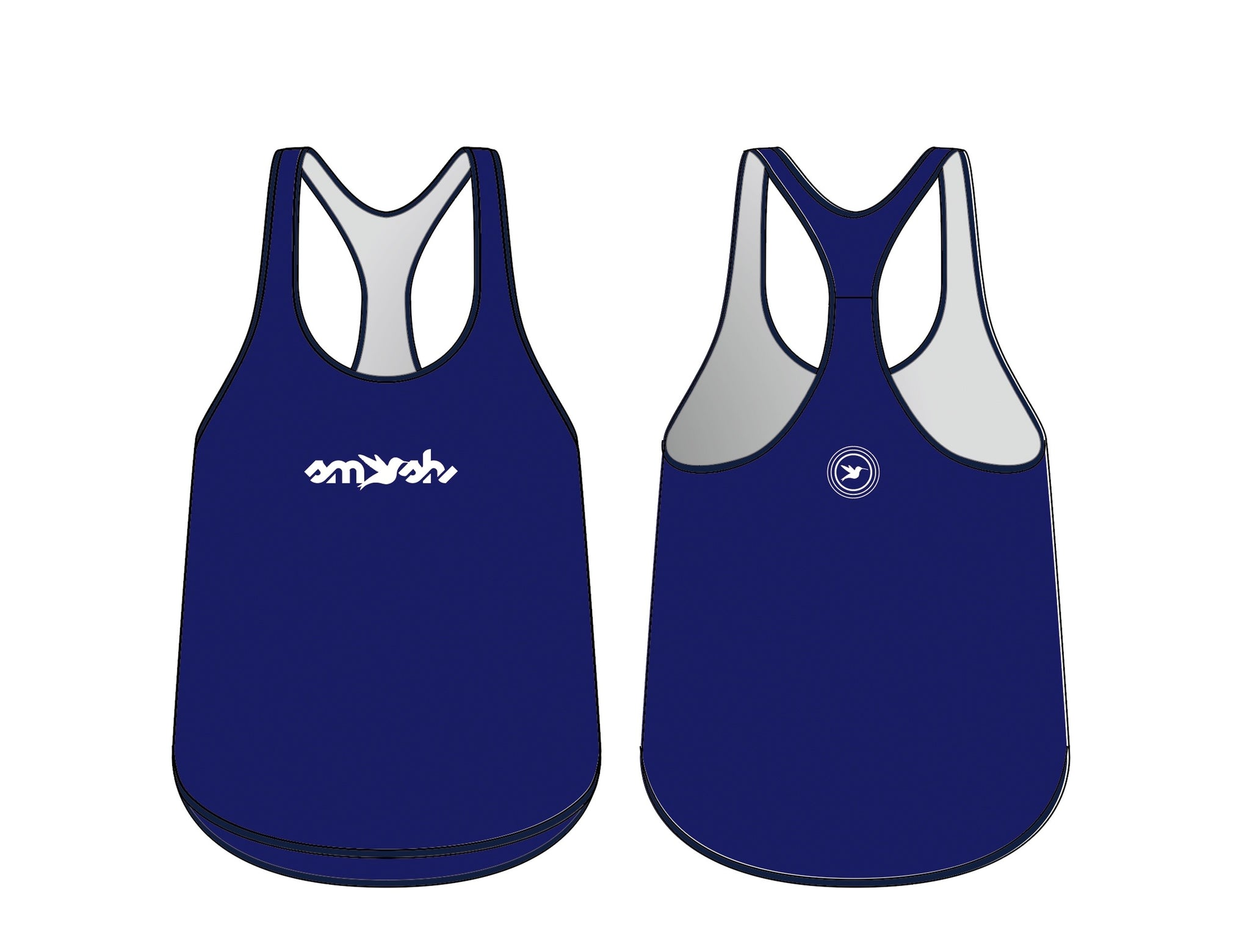 Graffiti Blue Women's Running Singlet Pre-order