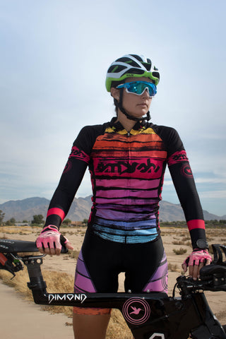 Black with Pink Hummingbird Arm Warmers *FINAL SALE*