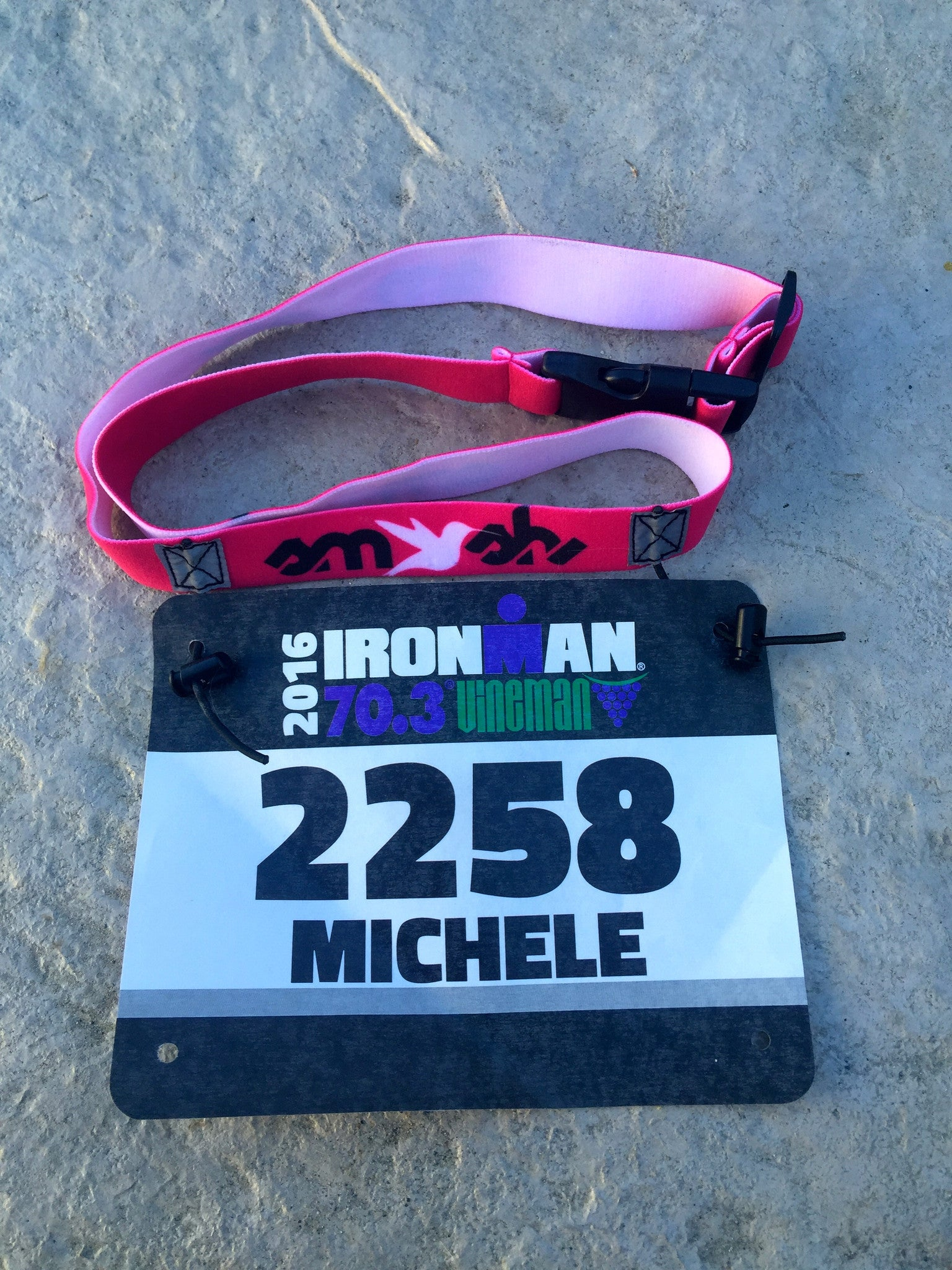 SMASH Pink Race Belt