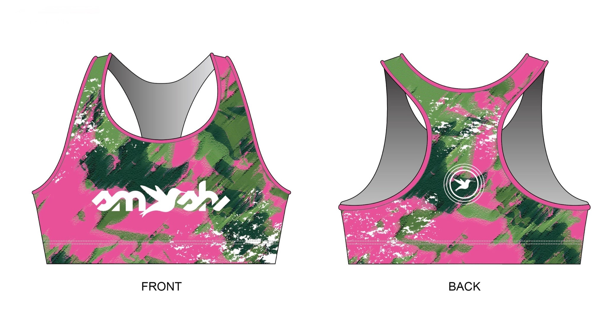 Lemmon Camo Women's Racerback Sports Bra