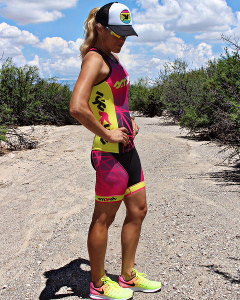 "Women's ATTACK 7"" Tri Shorts with Yoga Waistband"