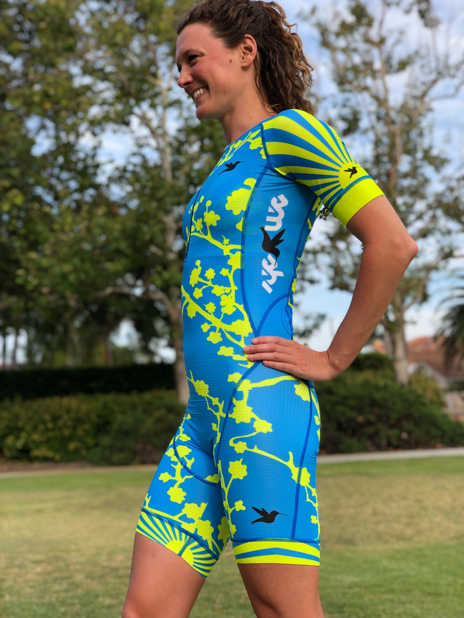 Blue Sakura Sun Custom Aero Suit