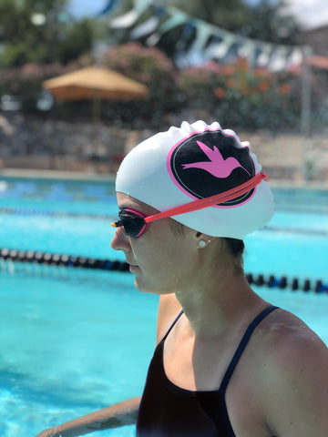 SMASH Circle Bird Silicone Swim Cap