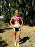 Yellow Lemmon Tri top with Built-in Bra