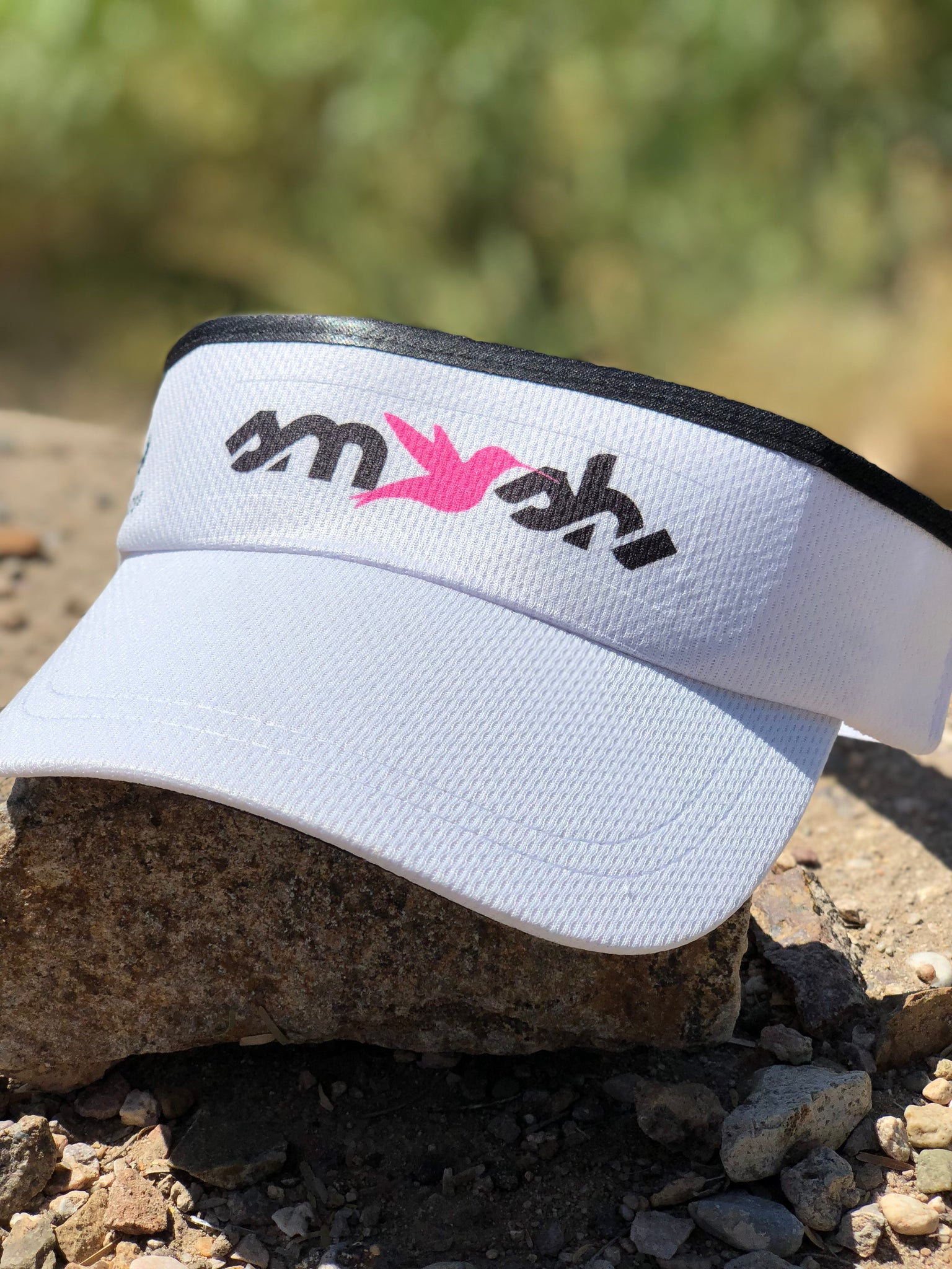White SMASH Performance Visor