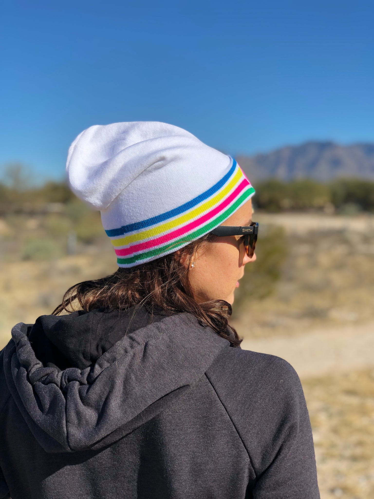 Slouch Beanie in White