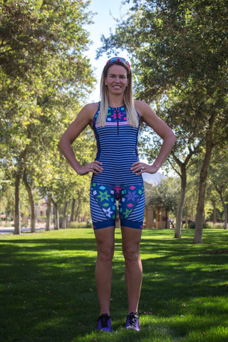 Hustle Sold Separately Women's Tri Top with Zip *FINAL SALE*