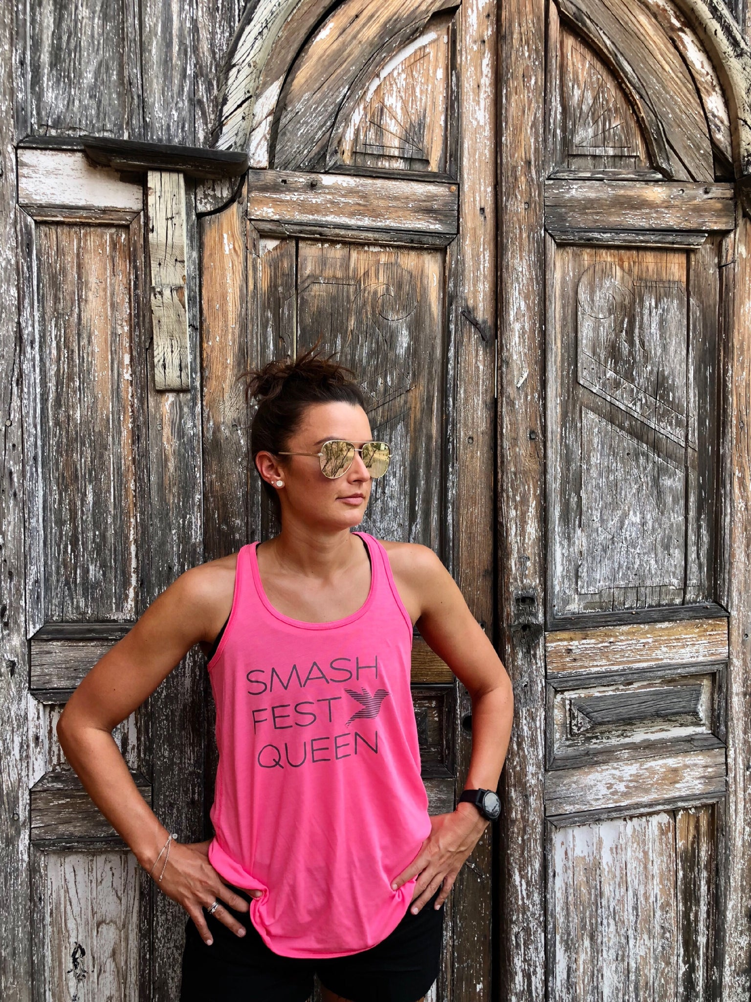 Pink Smashfest Queen Racerback Tank *FINAL SALE*
