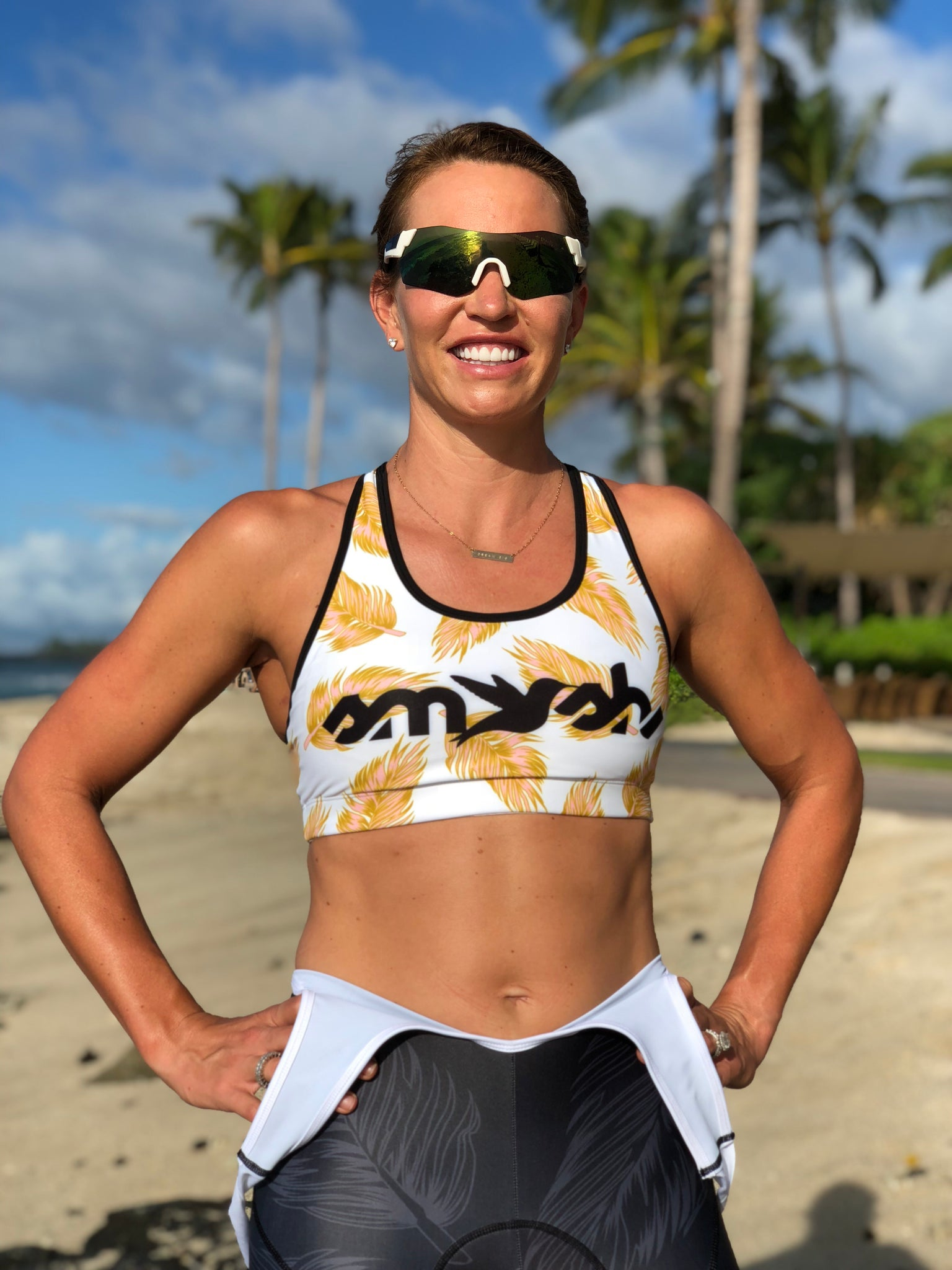 GOLD Racerback Sports Bra