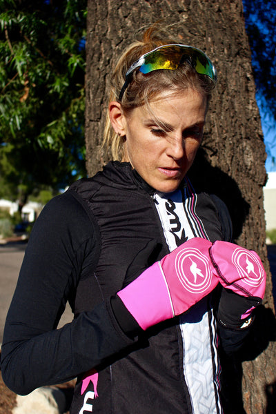 Converter Gloves in Fluro Pink