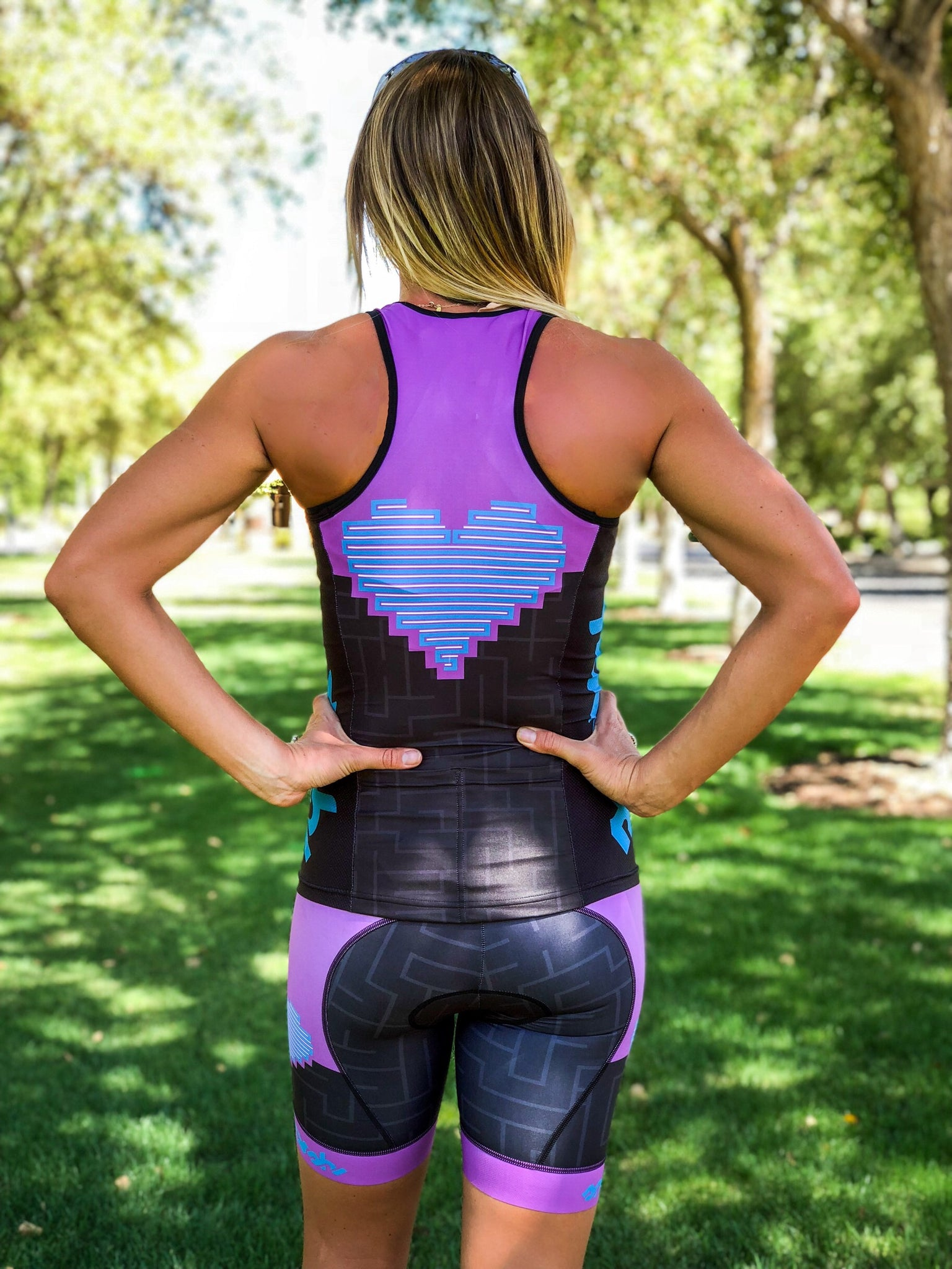 Heart Collection Tri Top with Built-in Bra *FINAL SALE*
