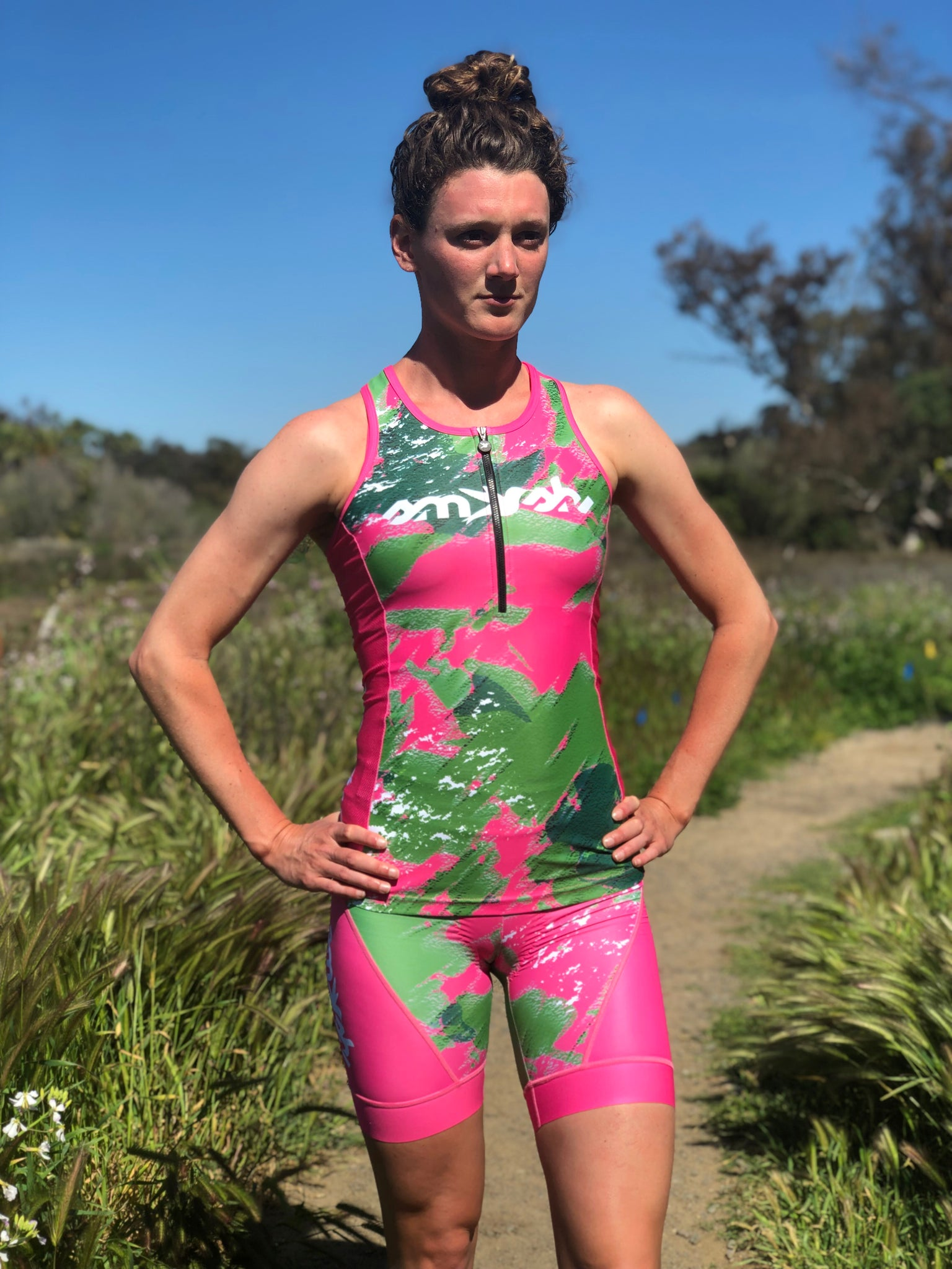 Camo Lemmon Women's Tri Top with Zip