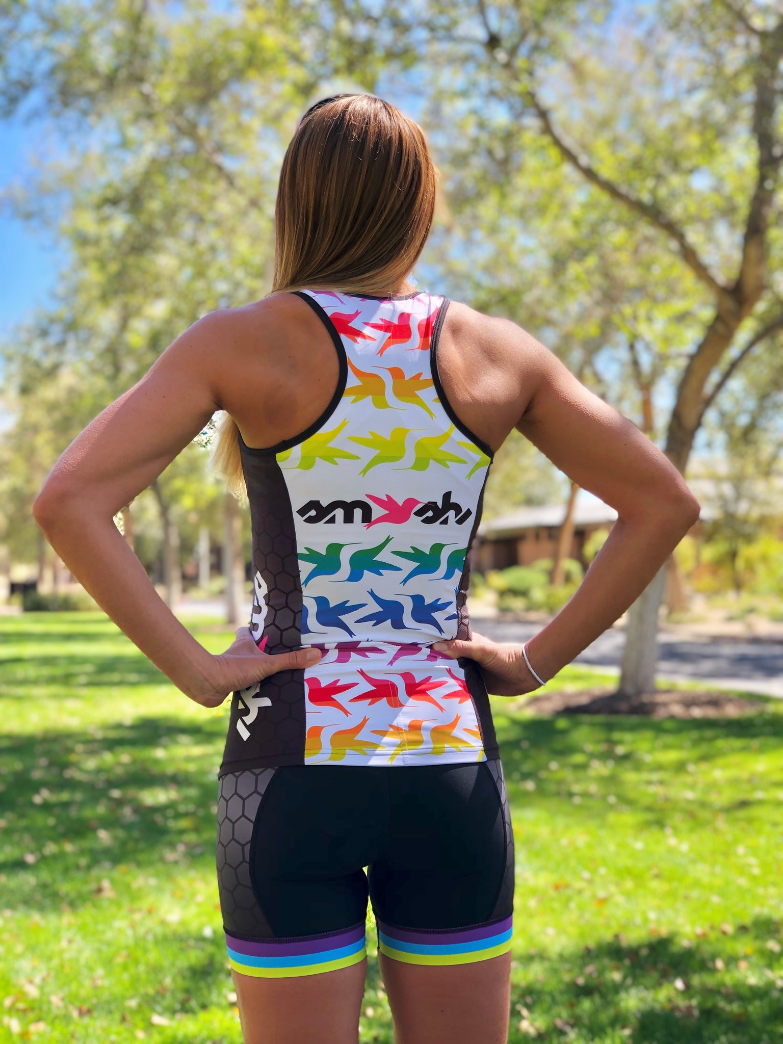 Fast n Loud Tri Top with Built-in Bra