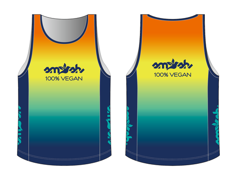 100% Vegan Men's Run Singlet Pre-Order