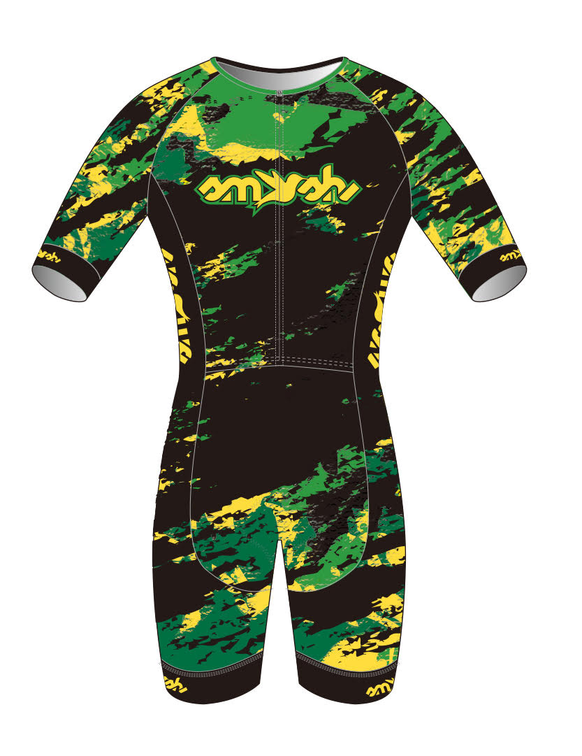 Men's Custom Lemon Lime Camo Aerosuit