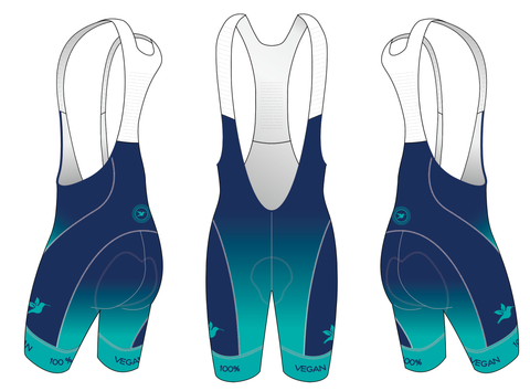 100% Vegan Cycling Women's Aero Bibs Pre-order