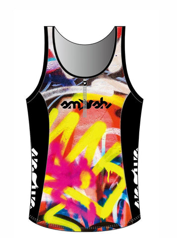 Graffiti Women's Tri Top with Zip