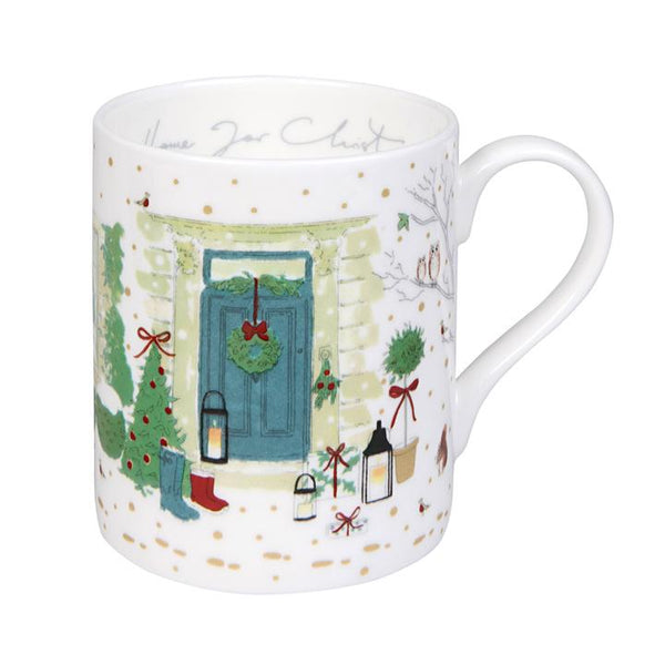 Holly Berry Home For Christmas Mug
