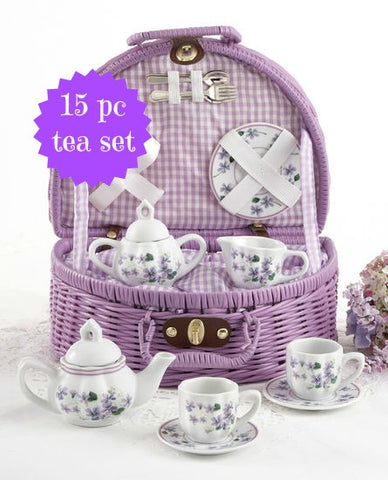Child's Violets Tea Set