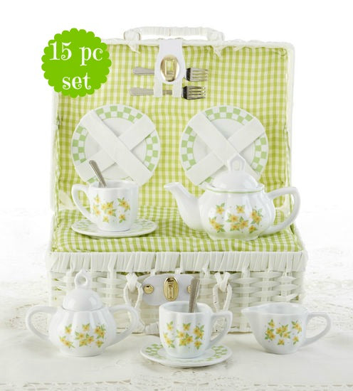 Child's Yellow Flower Tea Set