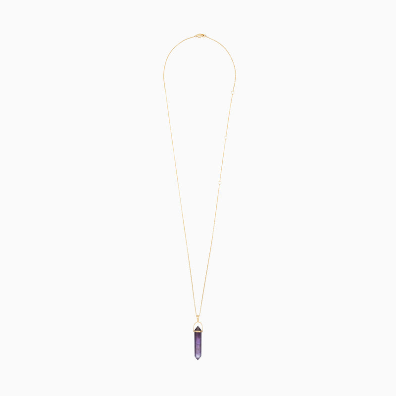 Amethyst Crystal Necklace - TSUKI.CO