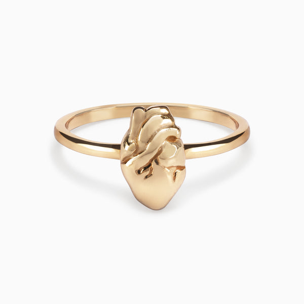 Heart of Gold Ring - TSUKI.CO