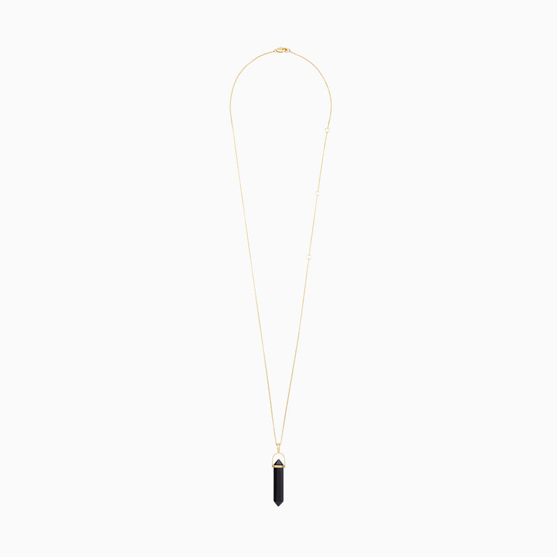 Onyx Crystal Necklace - TSUKI.CO