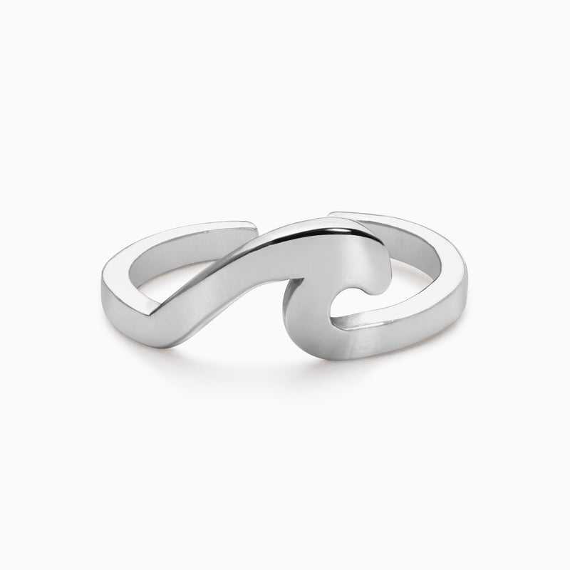 Ebb & Flow Wave Ring - Silver - TSUKI.CO