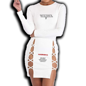 STRAPPED UP DRESS [ WHITE ]