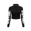 Babygirl Turtleneck Crop Top ( Black )