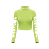 Babygirl Turtleneck Crop Top ( Lime )