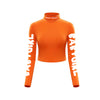 Babygirl Turtleneck Crop Top ( Orange )