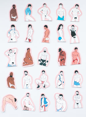 25 Hunk Stickers - Vol. 1