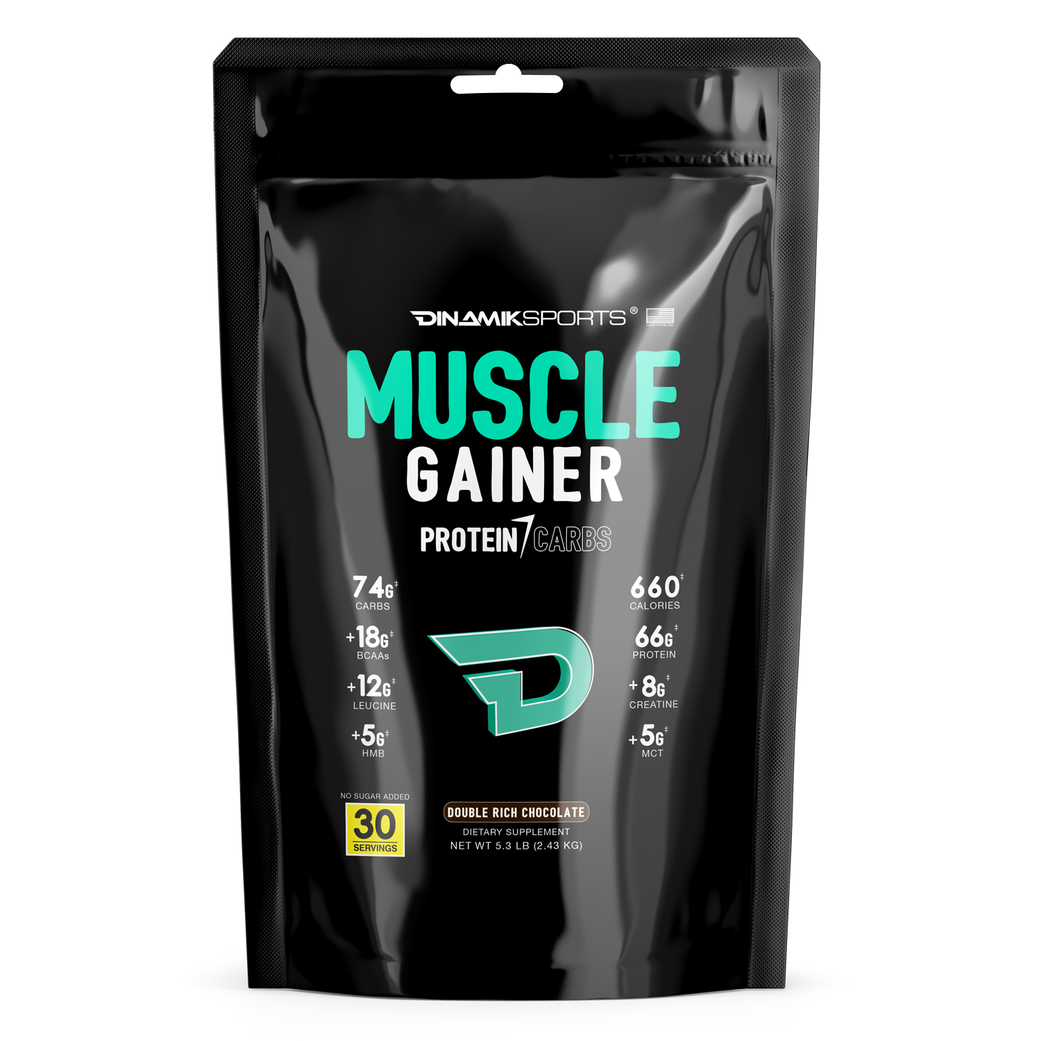 MUSCLE GAINER, DOUBLE RICH CHOCOLATE, 5 LBS