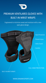 Load image into Gallery viewer, Premium Ventilated Gloves with Built-in Wrist Wraps.