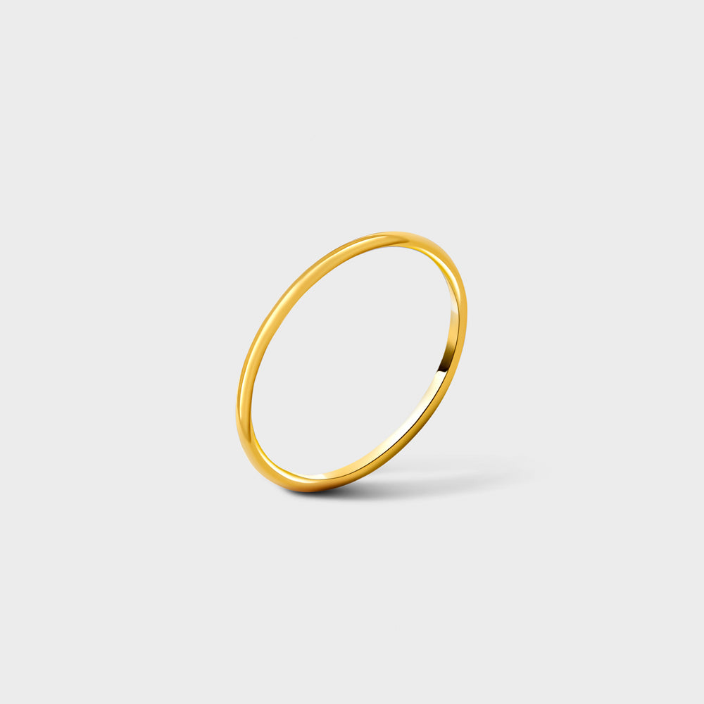 14k Gold Filled Plain Smooth Band Ring