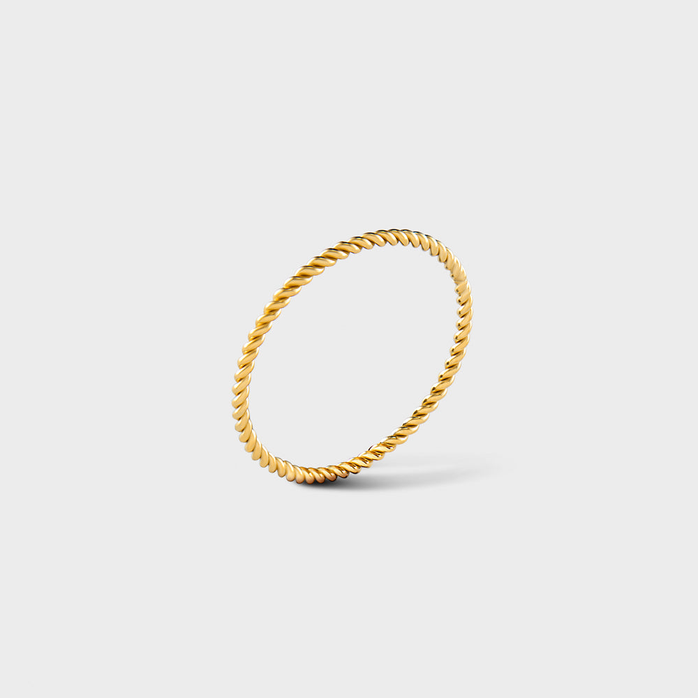 14k Gold Filled Twisted Band Ring