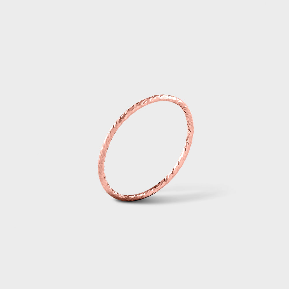14K Rose Gold Filled Diamond Cut Band Ring