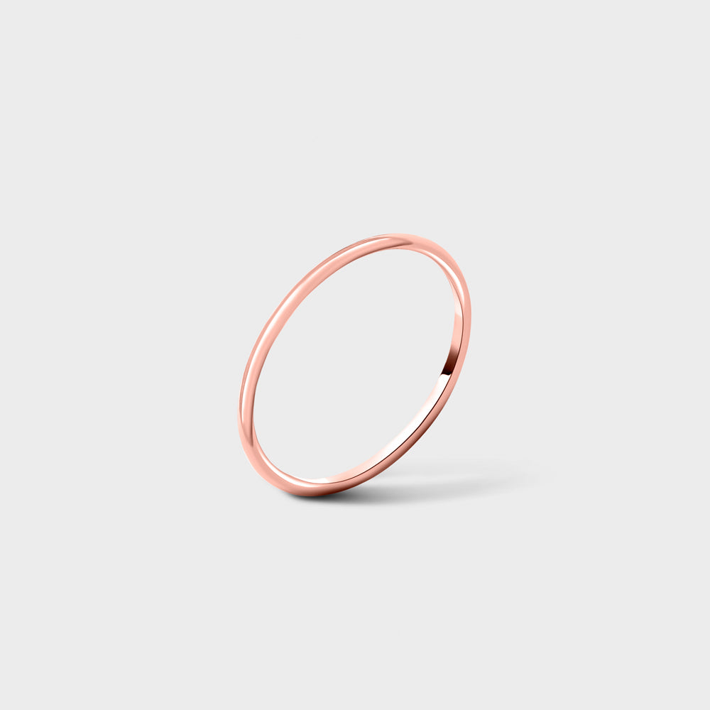 14k Rose Gold Filled Plain Smooth Band Ring