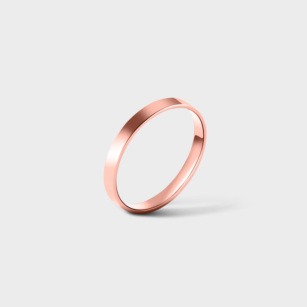 14k Rose Gold Filled Thick Band Ring