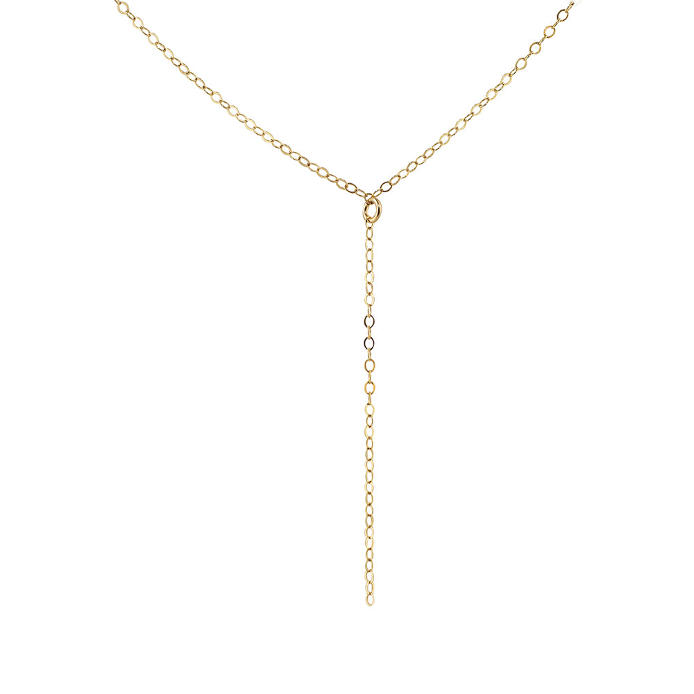 Y Drop Lariat Chain Necklace